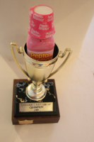 Chili cookoff trophy-Chef John Heidemann was the winner
