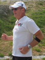 Jerry Dodson runs to support cancer awareness